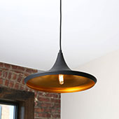 Single Bulb Matte Black Loft Pendant