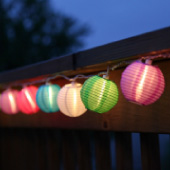 Multicolor 3 Mini Lanterns, Expandable