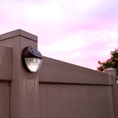 Brown Solar Fence Lights, Set of 4