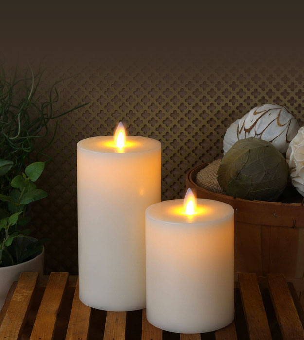 Flat Top Moving Wick Flameless Candle