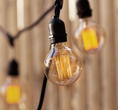 vintage brown string lights led battery solar and christmas lightscom