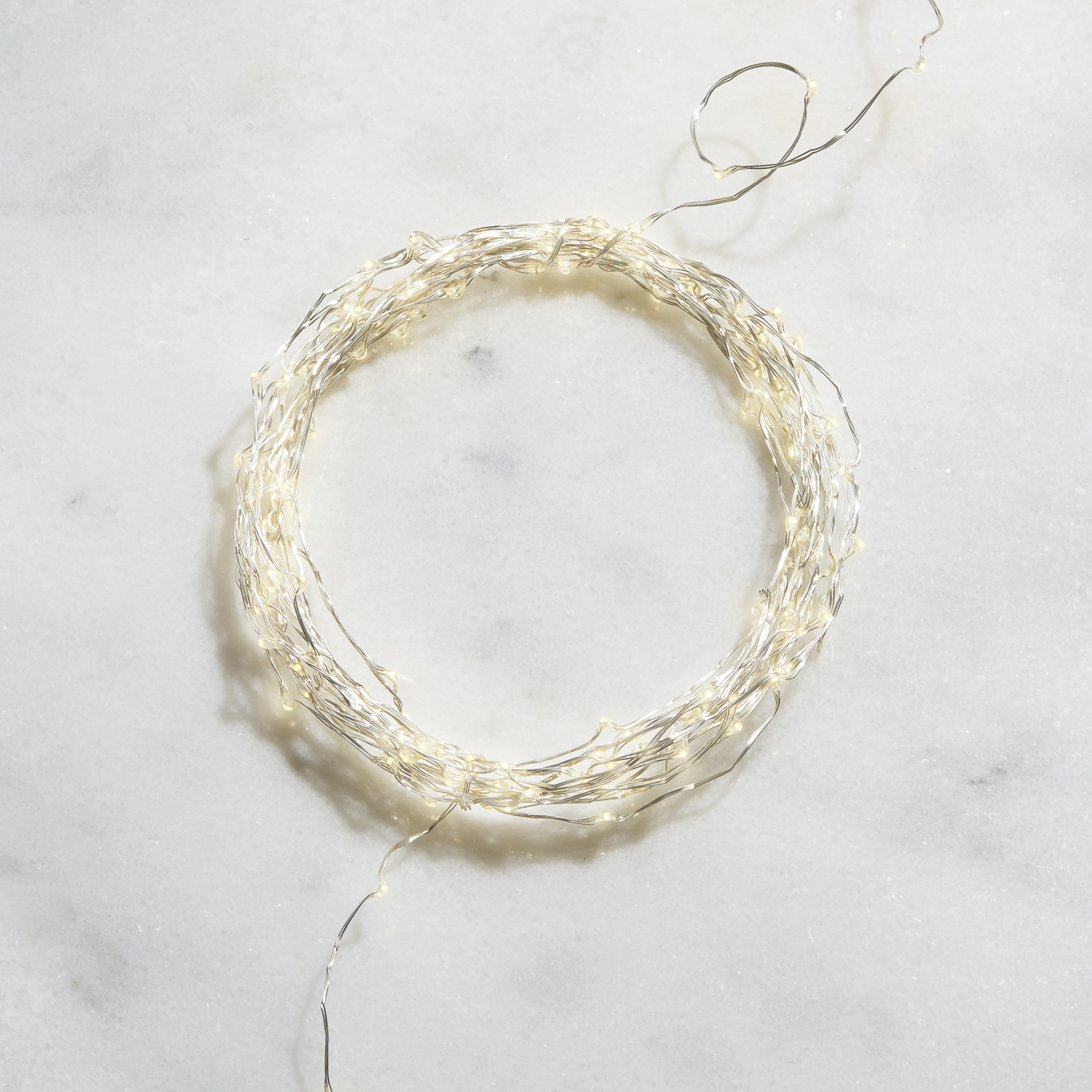 Starry Bright-White Silver Fairy String LIghts, 32ft